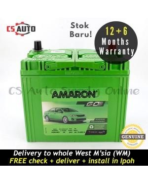 Amaron Go NS60RS Car Battery MF for Proton Wira, Saga BLM/FLX, Toyota Corolla, Honda Civic