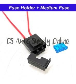 Fusebox Fuse Holder Adaptor + 1pc Plug in Fuse