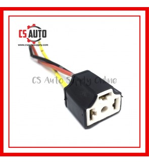 Head Lamp Socket Bulb Holder H4 Ceramic X 1Pc Extension Wire Harness Female Socket Adapter