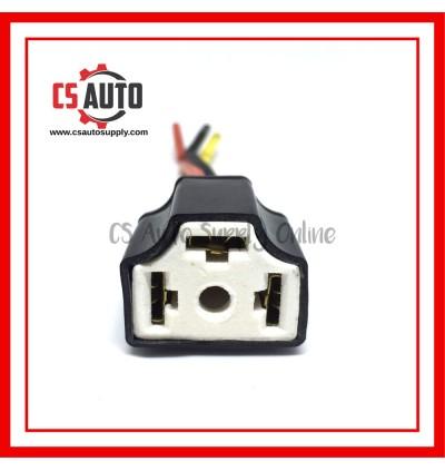 Head Lamp Socket Bulb Holder H4 Ceramic X 1Pc Extension Wire Harness Female Socket Adapter