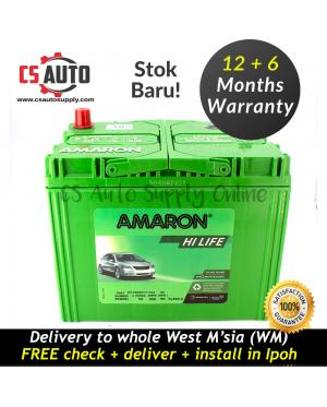 Amaron NS70L 65D26L Hi Life Battery MF Genuine for Proton Preve dan Waja, Toyota Camry, Innova and Estima