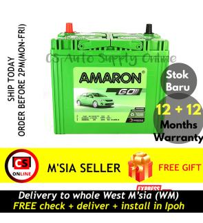 Amaron 55B24L NS60L Hi Life small terminal Battery MF Genuine for Honda HR-V, CR-V and Civic, Nissan Almera