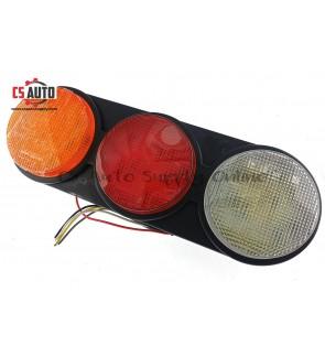 1pc x LED Trailer Tail Lamp Rear Light Brake Signal Reverse Rubber Base 24V