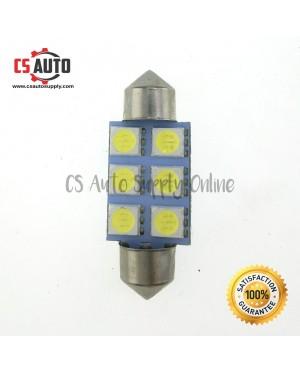 1pc x Led 12V 36mm 6smd Long light Bulb Bullet for car interior room lamp light