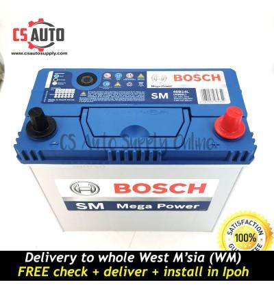 BOSCH NS60LS Car Battery MF 46B24LS for Proton Iswara, Waja, Toyota Vios, Altis, RAV, Honda CR-V, Honda Civic