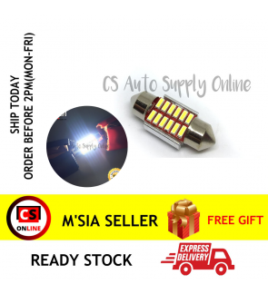 1pc x Led 12V 31mm 12smd Long light Bulb Bullet for car interior room lamp light Canbus
