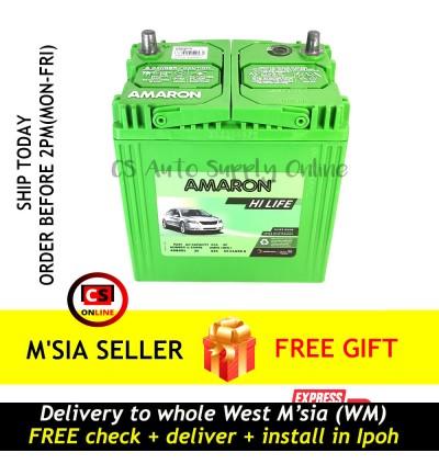 Amaron 42B20L NS40ZL NS40 Hi Life Battery MF Genuine for Honda City,