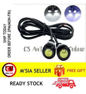 2pcs x 23mm LED 12V White Front Small Side Marker Light Lamp Motor Motorcycle car (1 set)