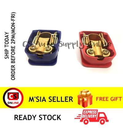 Car Battery Clamp Quick Release Disconnect 1set (Red & Blue) positive negative 2pcs Copper