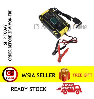 8 Amp Intelligent Smart Car Battery Charger 8A Pulse Repair 12V/24V AGM/GEL 6Ah-150Ah