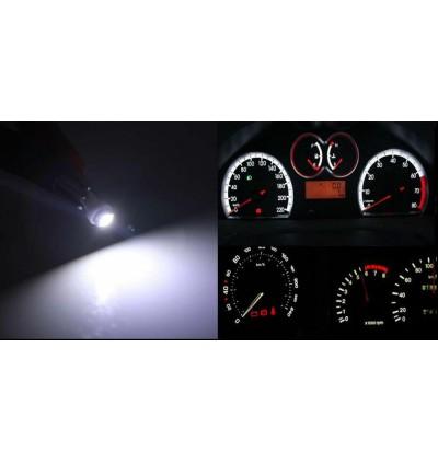2pcs x T5 Wedge Ultra White 1smd LED Dashboard Meter Light Bulb Gauge Instrument Lamp