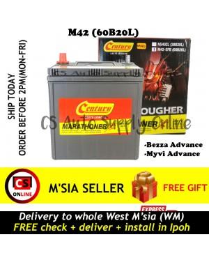 Century M42 60B20L EFB Battery Perodua Bezza Myvi Advance Eco Idle Start Stop Technology 100% Original Ipoh area