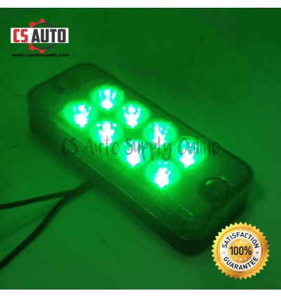 Led 24V 8smd Side Lamp Lorry Light Small Roof Lamp White Amber Red Green Blue 10cmx4cm