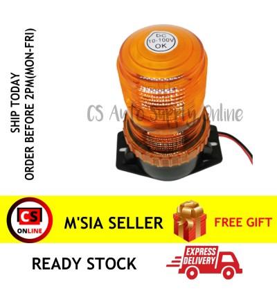 LED 30Led Flashing Beacon Flashing Rotate Lamp Light screw Yellow Amber 12V, 24V, 36V, 48V - 60V