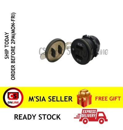 Dual 12V 2 USB Car Quick Charging 3.0 Truck Cigarette Lighter Socket Charger Plug Power Adapter Outlet