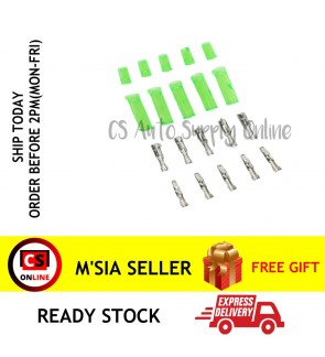 5 sets x Wire Electric Round Socket Terminal Clip Bullet White for Connection Car Motor Lorry Connector  (1pin small)