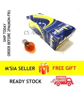 1pc x NARVA 12V 1141 PY21W Signal Bulb Yellow Amber BA15S 17635 100% Original Car Single contact 180degree