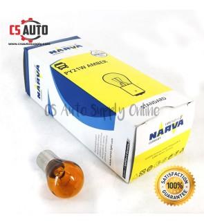 1pc x NARVA 24V 1141 PY21W Signal Bulb Yellow Amber BAU15S 17645 100% Original Lorry Truck Single contact