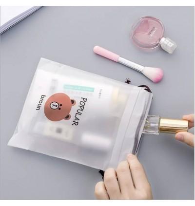 Piasso Travel Storage Bag Kartun Beg Simpanan Cartoon Bear Portable Travel Cosmetic Bundle Pocket Drawstring Dust proof