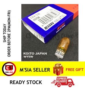 Koito Japan W5W T10 Yellow Amber Genuine Toyota Bulbs Turn Signal Parking Light 12V (1pc)