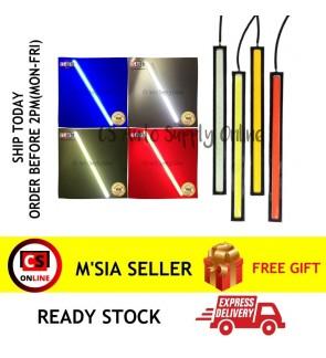LED 12V 17cm Car Stripe Lamp Side Light COB DRL Driving Strip Panel Working