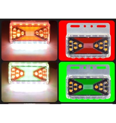 LED 24V Side Marker Flowing Running Light Truck Lamp Trailer Lorry Bus (1pc)
