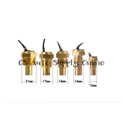Car Lorry Digital Water Temperature Gauge Trailer Voltmeter Meter Lcd Display 12V 24V High Horizontal 2 in 1