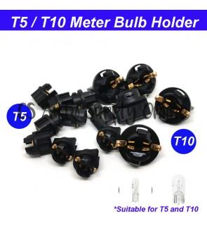 T5 T10 Meter Bulb Holder Socket with Adaptor 4191 4090 W1,2W W5W PVC Plastic (1pc)