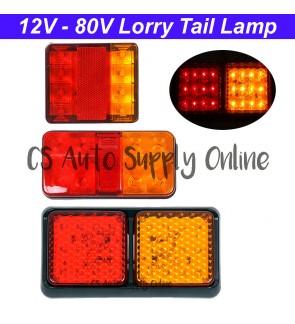 Led 12V - 80V Tail Rear Brake Stop Driving Light Trailer Truck Lorry Van Car