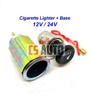 12V 24V Cigarette Lighter Adaptor Base Car Van Lorry