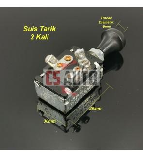 CS Pull Switch Twice Head Lamp Light Switch Suis Lampu Besar Tarik 2 Kali Lori Kereta Modify (1pc)